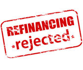 Refinancing rejected — Stock Vector