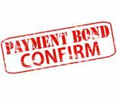 Payment bond confirm — Stock Vector