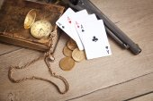 Crime, money, gambling — Stock Photo