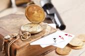 Crime, money, gambling — Stock Photo