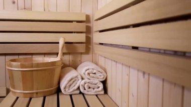 Sauna — Stock Video