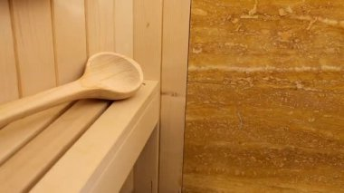 Finnish sauna — Stock Video