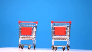 Shopping carts — Stock Video