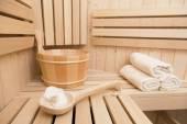 Finnish sauna , welness and spa accessories — Foto Stock