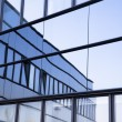 View of steel blue glass high rise building skyscrapers, business concept of successful industrial architecture — Stock Photo #67505275