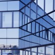 View of steel blue glass high rise building skyscrapers, business concept of successful industrial architecture — Stock Photo #67505361
