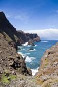 Beautiful landscape at the north coast of Ponta de Sao Lourenco,the easternmost part of Madeira Island — Stock Photo