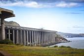 Pista do aeroporto do Funchal — Fotografia Stock
