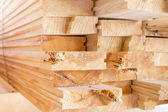 Stack of wood boards  for construction or industrial work — Stock Photo