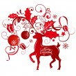 Greeting card with reindeer — Stock Vector #56244195