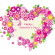 Valentines day card — Stock Vector #62174365