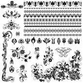 Calligraphic ornaments, borders, vignettes — Stock Vector