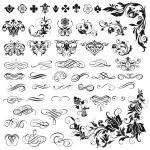 Vector set of calligraphic elements for design — Stock Vector #69718299
