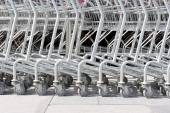 Roller of shopping cart — Stockfoto