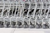 Roller of shopping cart — Stok fotoğraf