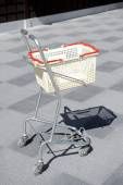 Roller of shopping cart — Stock Photo