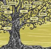Family tree - concept illustration. — Stock Vector
