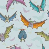 Seamless pattern with bats. — Stockvektor