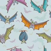 Seamless pattern with bats. — Wektor stockowy