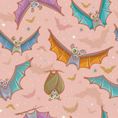 Seamless pattern with bats. — Stock Vector