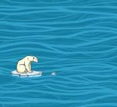 Polar bear and pollution problem. — Stock Vector