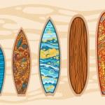 Vector set of surfboards. — Stock Vector #66820455