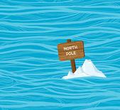 Северный полюс - глобальное потепление. — Cтоковый вектор