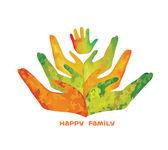 Logo of human hand. — Stock Vector