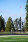 Goal Posts at Football Field — Stock Photo