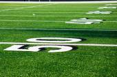 50 Yard Line at Football Field — Stock Photo