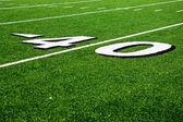 40 Yard Line on American Football Field — Stock Photo