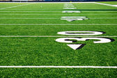 Thirty Yard Line at Football field  — Stock Photo