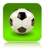 Voetbal app — Stockfoto