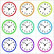 Isolated Clock Colorful Collection — Stock Photo #73891137