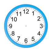 Isolated Customizable Blue Clock — Stock Photo