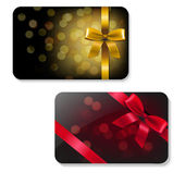 Color Gift Card Set — Stock Vector