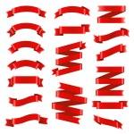 Red Ribbon Big Set — Stock Vector #60005251