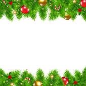 Retro Christmas Wall — Stock Vector