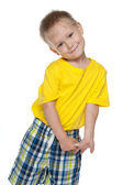 Shy little boy — Stock Photo
