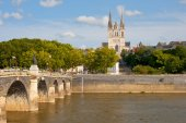 Angers at a summer day — Foto Stock