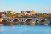 The Pont Neuf in Toulouse in summer — Foto Stock