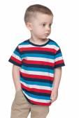 Small boy looks aside — Stock Photo