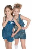Clever little girls — Stock Photo