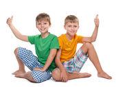 Two joyful young boys — Stock Photo