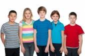 Five happy children — Stockfoto