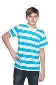 Confident teenager boy — Stock Photo
