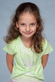 Pretty little girl with flowing hair — ストック写真
