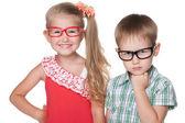 Niños inteligentes — Foto de Stock