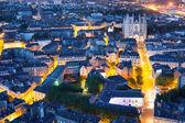 Nantes city at a summer night — Stockfoto