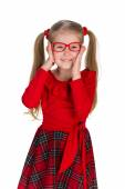 Fashion little girl in glassess — Stock Photo